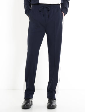 Jersey jogging trousers with stripes