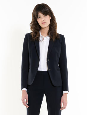 Slim-fit stretch fabric blazer