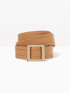 Nappa belt with sliding buckle