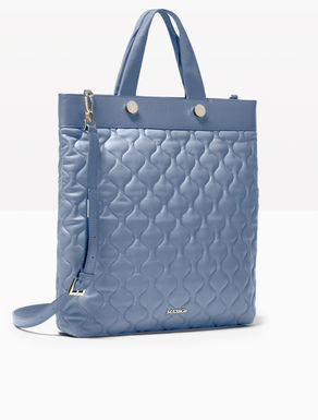 Quilted nappa shopper bag