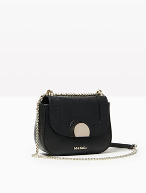 Rounded leather chain bag
