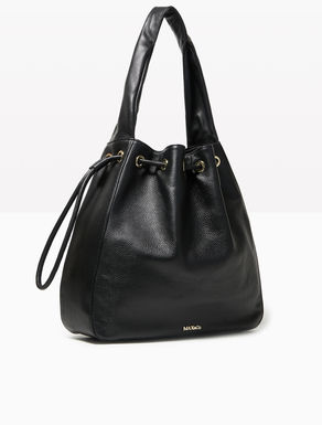Leather and nappa hobo bag