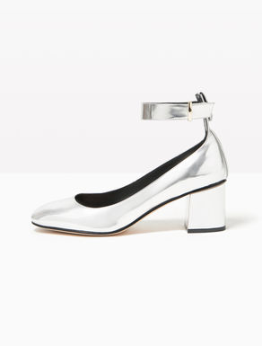Laminated pumps with midi heel