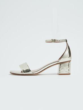 Laminated midi sandals