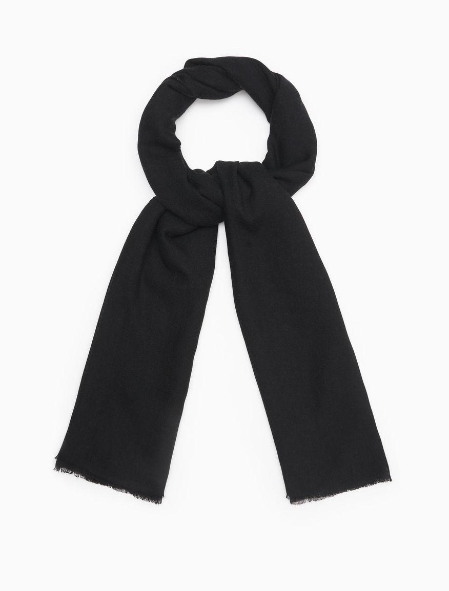 e604600be157 Schal aus fließendem Stoff, schwarz -