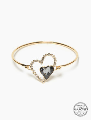 Bracelet with crystal hearts