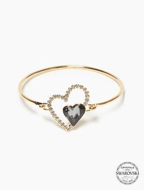 Bracelet avec cœurs en cristaux