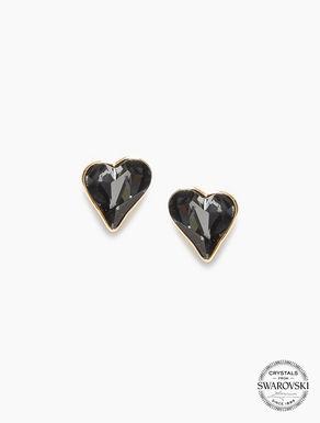 Clous d'oreilles cœurs en cristaux