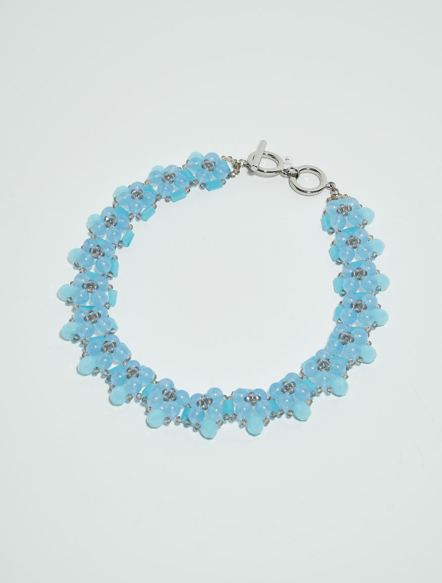light products dual layered blue and bright necklace
