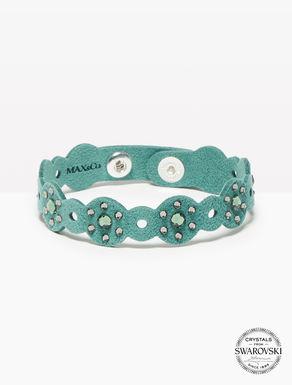 Bracelet en alcantara avec cristaux