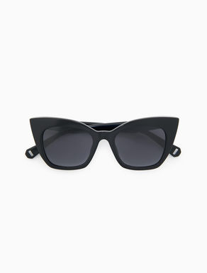 Cat-eye sunglasses with crystal heart