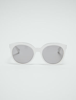 Lunettes cat-eye arrondies pailletées