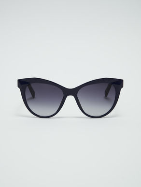 Geometric cat-eye glasses