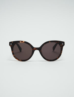 Round sunglasses with micro-studs