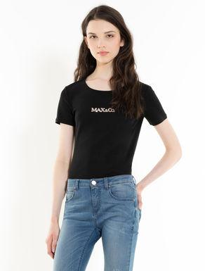 T-shirt à logo en paillettes