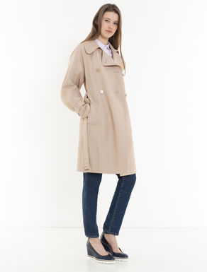 Micro-faille trench coat