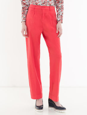 Wide gabardine trousers