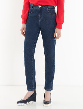 Slim-fit high-waisted jeans