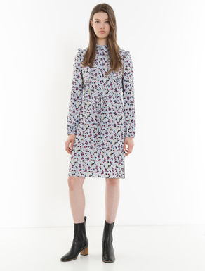 Floral dress with ruching
