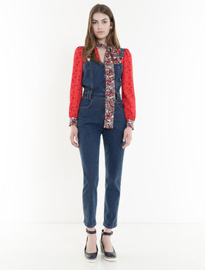 Salopette slim en denim stretch