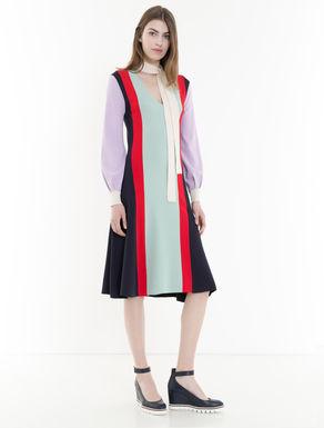 ニットカラーブロックドレス
