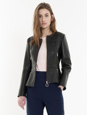 Nappa jacket with zip