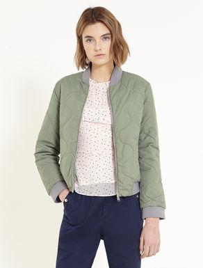 Bomber jacket with wavy stitching