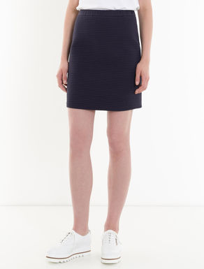 Quilted jersey skirt