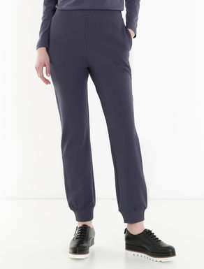 Jogging trousers in stretch jersey