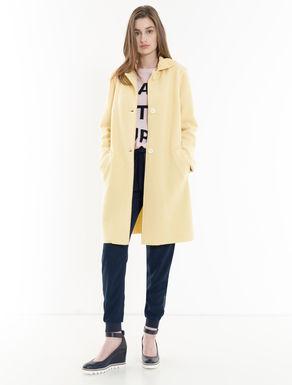 Boiled wool jersey coat