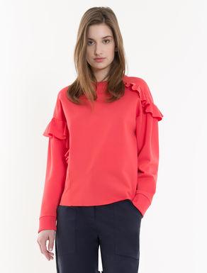 Sweatshirt mit asymmetrischen Volants