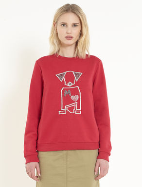 French terry embroidered sweatshirt