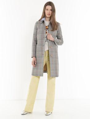 Glen plaid cotton raincoat
