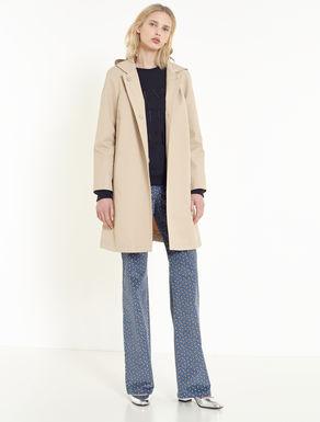 Cotton / nylon raincoat