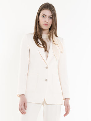 Long floaty twill blazer