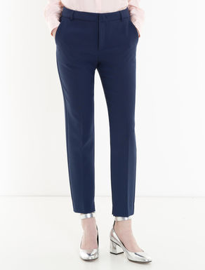 Slim-fit double trousers
