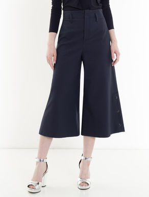 Wide stretch cotton trousers