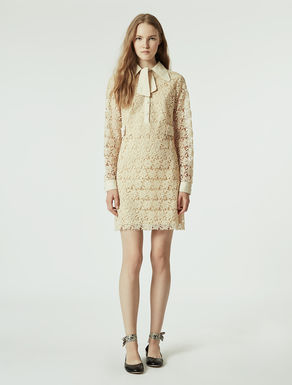 Vestito lana panna