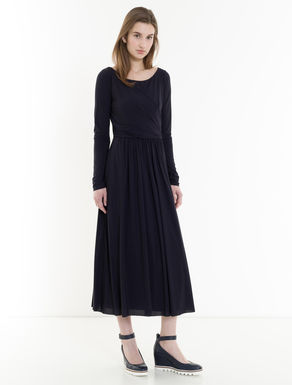 Floaty jersey dress with draping