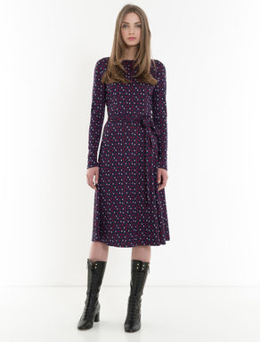 Criss-crossed dress in jacquard jersey