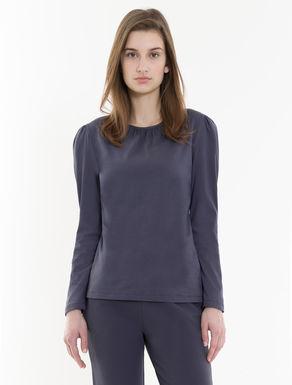 T-shirt en coton avec fronces