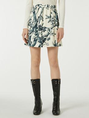 Floral-print ottoman miniskirt