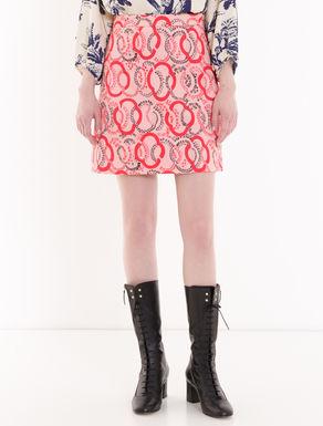 A-line piqué miniskirt