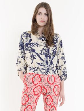 Floral-print ottoman shirt