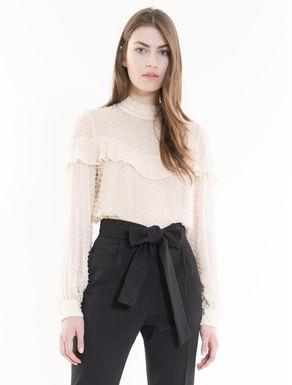 Plumetis crêpe blouse