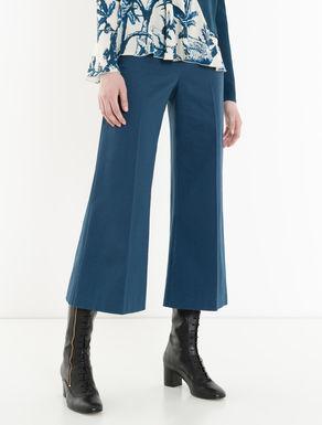 Wide-fit piqué trousers