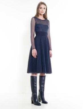 プリーツ チュール ドレス