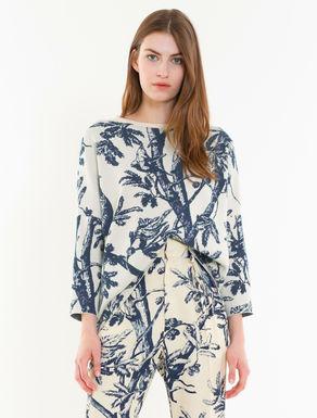 Oversized jacquard sweater