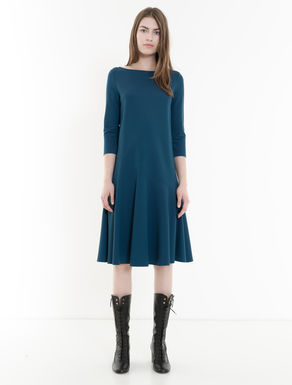 Stretch jersey A-line dress