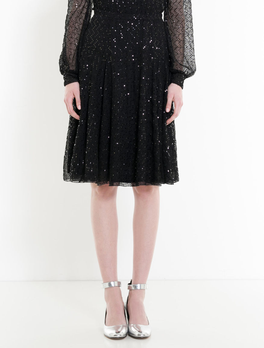 Gonna Nero donna PIREO Gonna in tulle con paillettes